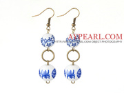 Blue and White Porcelain Beads Earrings Is Sold At $1.89